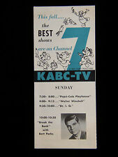 1954 DISNEYLAND WITH WALT DISNEY FALL PREMIERE KABC-TV 7 GUIDE BROCHURE HISTORIC