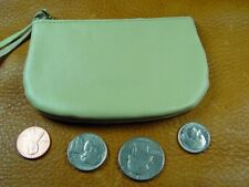 Tan Cowhide Leather coinpurse pouch USA hand crafted disabled veteran 5039