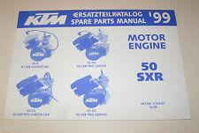 Teilekatalog Motor KTM 50 SXR - Modelljahr 1999!