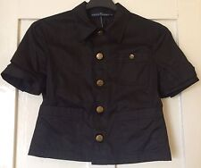 Ralph Lauren Biscay Black Cotton Jacket UK 8 New