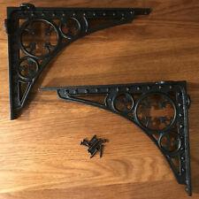 Cast Iron Gothic Trestle Shelf Brackets (Pair)