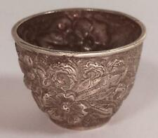 Sterling Silver Floral Miniature Cup Lot 2042