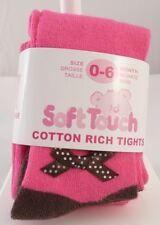 Soft Touch  Collant rose avec noeud  bébé fille  taille 0 - 6 mois