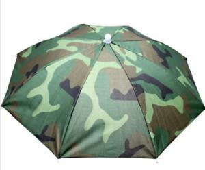 Outdoor Foldable Sun Rain Umbrella Hat Fishing Camping Headwear Cap Head Hats