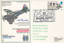 SC28a RAF Escaping Society Signed  Evaders Harry Burton shot down PoW escaped