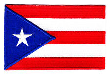 PUERTO RICO FLAG - IRON ON EMBROIDERED PATCH - PUERTO RICAN FLAG - PATRIOTIC