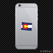 Colorado State Shaped Flag Cell Phone Sticker Mobile CO