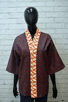 CUSTO BARCELONA Donna Giacca Cotone Taglia 52 Blazer Vintage Woman Jacket Kimono