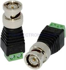 2Pcs Coax Cat5 Cat6 To CCTV Coaxial Camera BNC Male Jack Video Balun Connectors