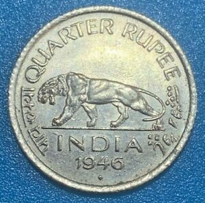 1946 British India Quarter 1/4 Rupee Coin