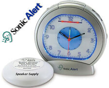 Extra LOUD Analog Alarm Clock with Bed Vibrator Shaker Buzzer Sonic Boom Super