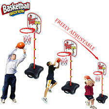 Kids FREE STANDING Sports per tabelloni Basketball Hoop Adjustable Stand W / Ball TOY