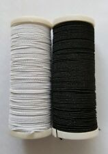 New 1 x 10M White 1 × 10M Black Elasticated Sewing Thread For Hand/ Machine