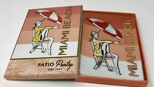 Rosanna Miami Beach Patio Party Porcelain Vanity Tray In a Gift Box Holiday Gift