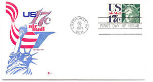 C80  17c Statue of Liberty Cover Craft Cachets, CCC, FDC no insert