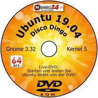 ubuntu 19.04 LTS 64-Bit DISCO DINGO + Handbuch Linux Live CD DVD Deutsch STS Neu