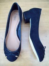 NEXT BLACK FAUX SUEDE LOW HEEL SHOES SIZE UK 5 BNWT's