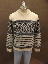Vtg Alps Knitmeister Nordic Winter Sweater Mens XL Wool? Sporty Ski Snow Sled