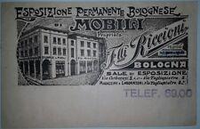 BOLOGNA TESTATINA ESPOSIZIONE FLLI. RICCIONI MOBILI DATATA 1929 VEDI...