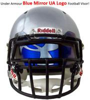 FREE SHIP Under Armour BLUE MIRROR HOLOGRAM Football Helmet Visor Eye Shield UA