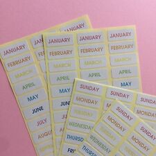 divider index tab, Planner Month Day Sticker Rainbow for scheduler Label