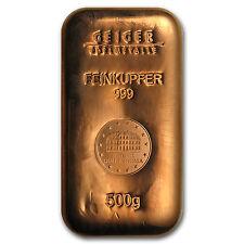 500 gram Copper Bar - Geiger (Security Line Series) - SKU #87444