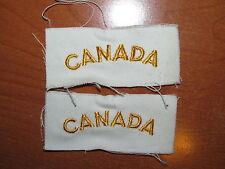 Royal Canadian Navy Badge Set Shoulder Title Flash CANADA gold on white