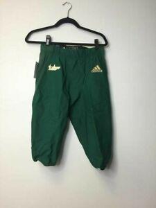 Adidas Mens USF Elastic Waist Activewear Green Gameday Football Pants Sz Large