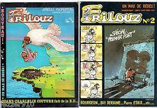 LOT MAGAZINE BD ¤ FRILOUZ n°1 et 2 ¤ 1982 ¤ UN MAX DE BEDES