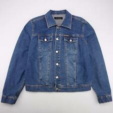 CALVIN KLEIN VTG 70's Snap Front Jean Trucker Jacket Medium Wash Denim Mens M