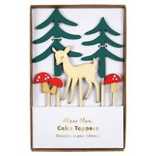 NEW Meri Meri Woodland Cake Toppers