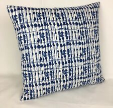 "Handmade Cushion Cover ""Kediri Indigo"" Studio G Double Sided  17""x17"""