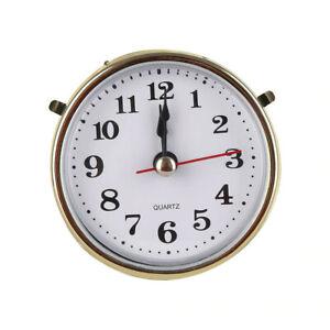 65mm Desk / Carriage Clock Mechanism Movement Gold & White Quartz DIY clocks