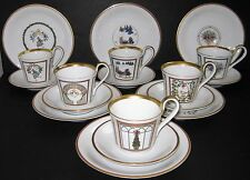 Bing & Grondahl B&G Christmas Holiday Service for 6 Cup & Saucer & Dessert Plate