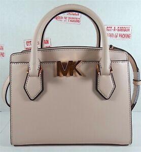 Michael Kors Mott Leather MK Signature Medium Satchel Crossbody HandBag Purse