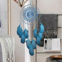 Blue Handmade Lace Dream Catcher Feather Car Home Wall Hanging Decor Ornament