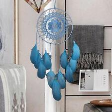 Dream Catcher Feather Blue Lace Handmade Car Home Wall Hanging Decor Ornament