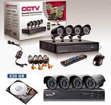 Kit videosorveglianza 4 TELECAMERA INFRAROSSI hard disk 320 DVR ALIMENTATORE