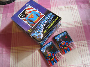 Topps Superman The Movie Trading Cards complete box 36 Unopened Packs 1978