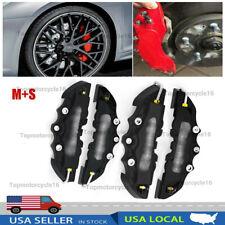 4pcs Black 3d Style Brake Caliper Covers Universal Car Disc Front Rear Kits Ms Fits Jaguar