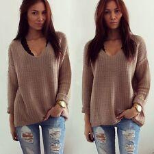 Womens Casual Long Sleeve Knitwear Jumper Cardigan Coat Jacket Sweater Pullover