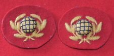 British Army. Royal Marines Genuine Junior Bandsman's Collar Badges