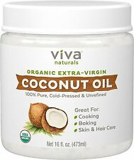 Organic Extra Virgin Coconut Oil Certified Organic Gluten Free Cold Compressed