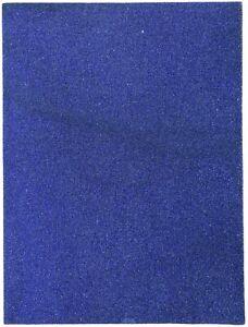 "Cousin-Glitter Foam Sheet 9""X12"" 2mm-Royal Blue"