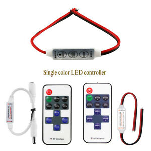 RF Remote / Dimmer Controller For 5050 3528 DC12V Single Color LED Strip Lights