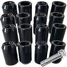 20x Black Subaru Impreza Tuner Wheel Nuts M12x1.25 60d Slim Head