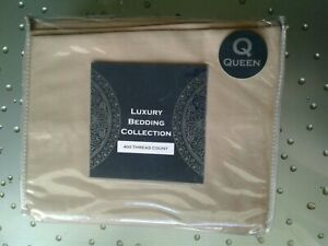 Luxury Bedding  Collection 400 Thread Count Queen Bedding Sheets Taupe, New, B91