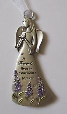 b A friend lives in your heart forever angel bird ANGELS AMONG US Ornament Ganz
