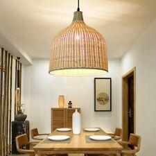 E27 Modern Rattan Pendant Light Fixture Ceiling Lamp Chandelier Home Decoration