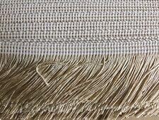 Wheat Beige 50mm Cut Rayon Fringe, Sash Fringe, Fringing